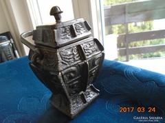 FANGYI-Kínai-rituális bronz bor edény-ZHOU-dinasztia-ie.12sz