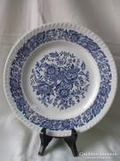 Kék-fehér,virágmintás tányér 25,5 cm.
