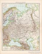 Oroszország (európai része) térkép 1881, német, eredeti