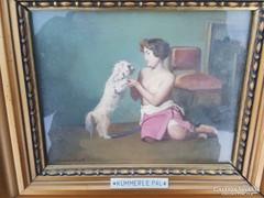 Kümmerle Pál / Lány kiskutyával