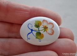 Szépséges antik festett porcelán bross