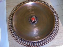 Nagyon érdekes iparművészeti réz fali tányér