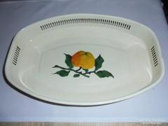 Art deco zománcos gyümölcs kínáló tál