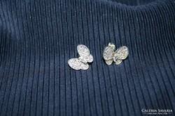 925 Ezüst köves pillangó fülbevaló