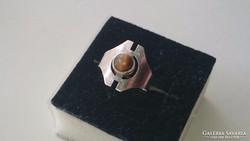 Ezüst gyűrű Tigrisszemmmel díszítve