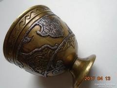 13-16 sz.MAMLUK BIRODALMI-perzsa-iszlám-ezüstberakásos-kávés pohár tartó (4)