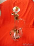 Antik aranyozott üveg karaffa