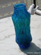 Retro vastag kék üveg váza