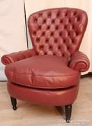 Gyönyörű chesterfield bőr fotel!