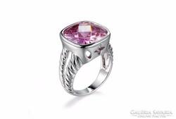 Rózsaszín rubin köves gyűrű 7-es ÚJ!