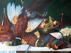 0L221 Ismeretlen festő : Fácános asztali csendélet
