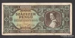 Százezer pengő 1945.  NAGYON SZÉP!!!