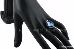 Kék köves ROXI gyűrű 8-as ÚJ!