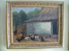 Csapó Jenő festmény, Baromfiudvar