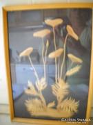 Antik falikép eladó!Nádcsíkokkal készült kép!