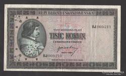 1000 korona 1945.  NAGYON SZÉP!!  RITKA!!