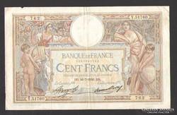 100 frank 1936.  Francia!  NAGYON SZÉP!