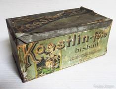 Koestlin-féle bisquit, kekszes fém-doboz 1945 előtti