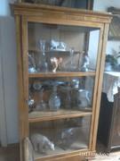 1860-as évekbeli eredeti biedermayer pohárszékes vitrin