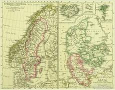 0L613 Antik acélmetszet térkép SVÉDORSZÁG NORVÉGIA