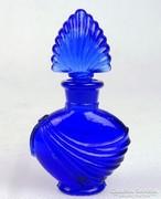 0L606 Régi királykék színű parfümös üvegcse