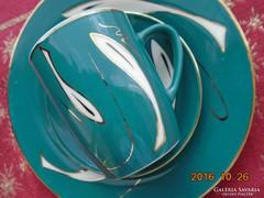Különleges türkíz-kézi arany mintás kínai reggelíző készlet