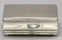 0L075 Régi ezüst doboz kártyadoboz