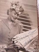 HONTHY HANNA autográf fotó 1963 dedikált OPERETTSZÍNHÁZ