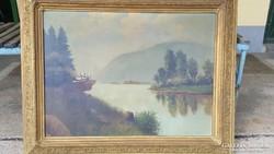 Fülöp A. jelzéssel / Szarvas a folyóparton