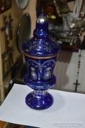 Csehszlovák fedeles üveg váza