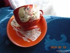 Kínai csésze+alja-Szecessziós hölgy mintával