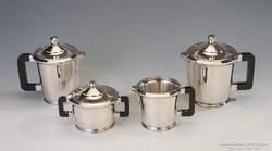Ezüst art  deco teás-/kávéskészlet