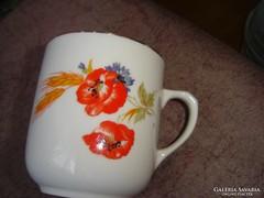 Meseszép régi pipacsos cseh jelzett csésze  teás    53 T