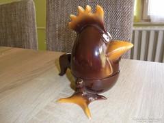 Ritka hollóházi porcelán kakas bonbonier