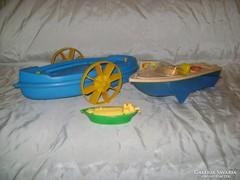 Retro játék csónak  három darab