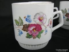 Zsolnay porcelán hajnalkás bögre 4 db
