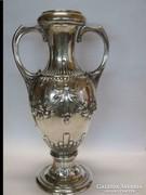 Impozáns szecessziós ezüst váza