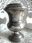 Antik ezüstözött váza, kehely