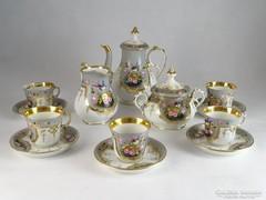 0L248 Antik XIX. századi porcelán kávéskészlet