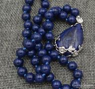 Lapisz Lazuli nyaklánc,medállal.