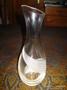 Üvegváza , csiszolt művészi  üveg  28 cm