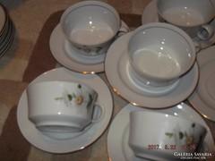 Csodaszép  margarétás teás csész 6 darab alföldi