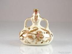 0M294 Antik Zsolnay vajszínű porcelán díszváza