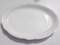 Régi Zsolnay pajzspecsétes porcelán tál