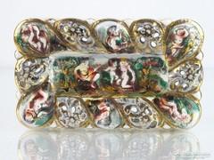 0M350 Régi Capodiomonte porcelán hamutál