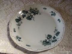 Zsolnay , régi kék rózsás  tálca átm 28 cm
