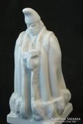 Fehér Herendi juhász porcelán szobor