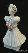 Matyó menyasszony népviseletes herendi porcelán