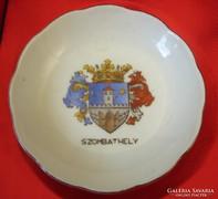 Szombathely herendi porcelán emléktálka 1944