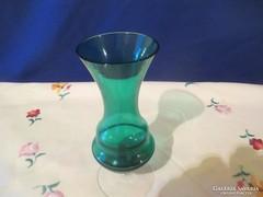 Zöld talpas üveg  váza Á065